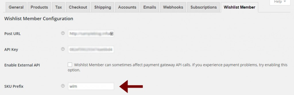 Step #2: Copy the SKU Prefix from the WooThemes Plugin