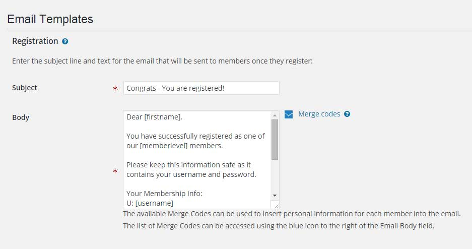 Wishlist Member Login Email