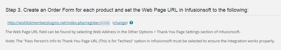 Thank You Page URL
