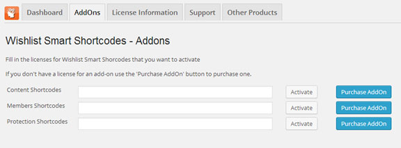 Activating the Add-Ons License