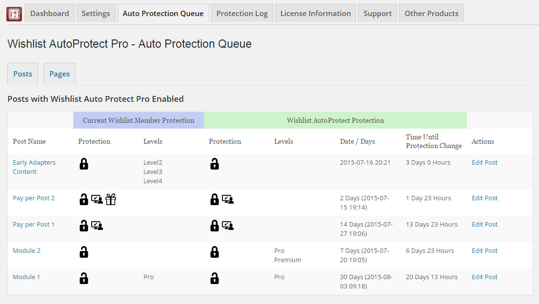Wishlist AutoProtect Pro - Auto Protection Queue