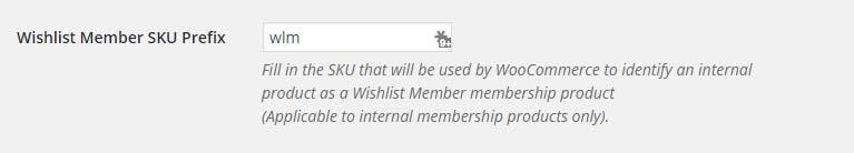 Wishlist Member SKU Prefix