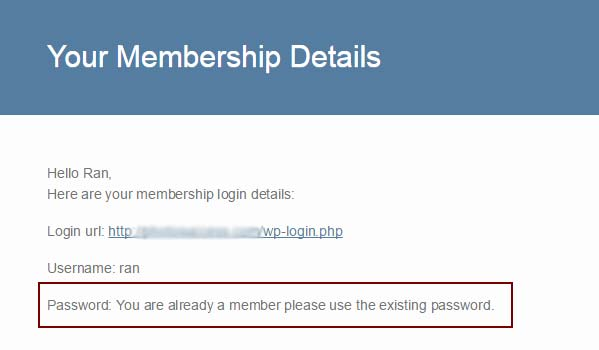 The Membership Details Email