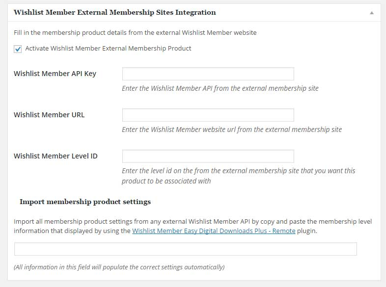 External Membership Sites Integration
