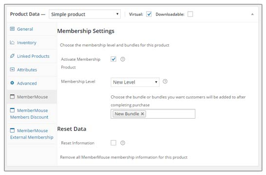 MemberMouse WooCommerce Integration Settings