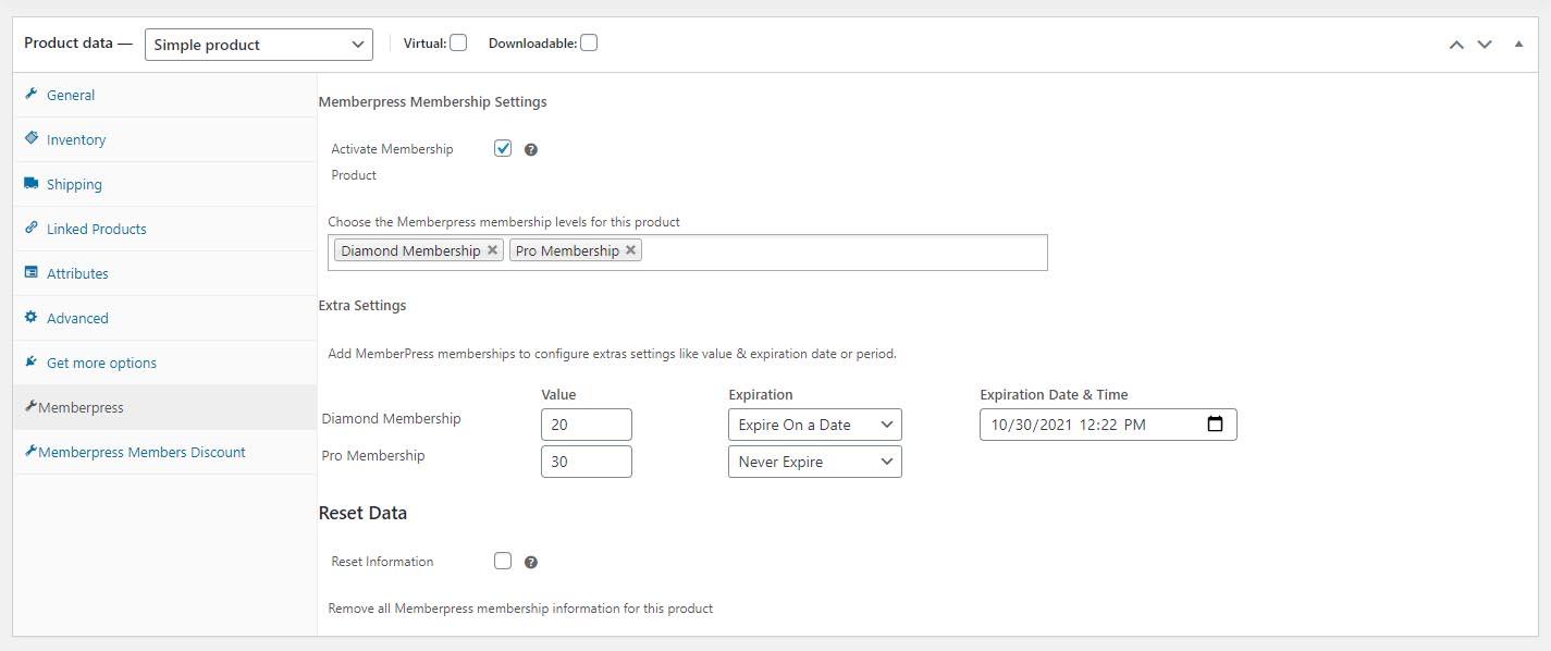 MemberPress WooCommerce Plus - Membership Products Setup